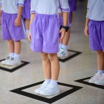 Square Social Distance Marker Sticker for Schools