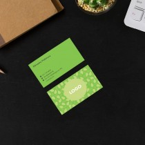 Coloured Visiting Cards - Green Vege Store (Under Construction)