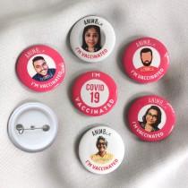 I'm Vaccinated Photo Badges