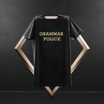 Grammar Police Black T shirt