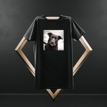 Custom Pet Print Black T Shirt