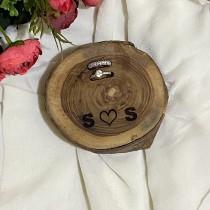Mini Log Couple Ring Holder