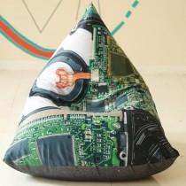 Apihappi Printed Beanbag - Circuit