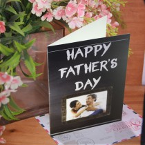 Black Board Type Father's Day Card