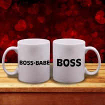 """Boss"" & ""Boss-Babe"" Couple mugs"