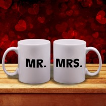 """Mr. "" & ""Mrs"" Couple Mugs"