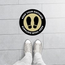Shoeprint Social Distancing Floor Sticker for Office