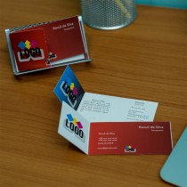 Double Sided Foldable Visiting Cards