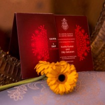 Hindu Sleeved Wedding Card
