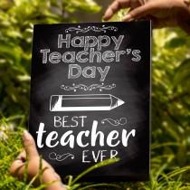 Teacher's Day A4 Box Frame