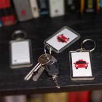 Rectangular Plastic Key tags