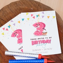 BIRTHDAY INVITATION CARD (SINGLE SIDED)