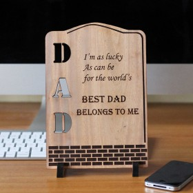 Father's Day Large Wooden Plaque