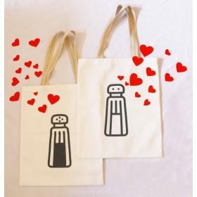 Salt n' Pepper Shaker Couple Tote Bags