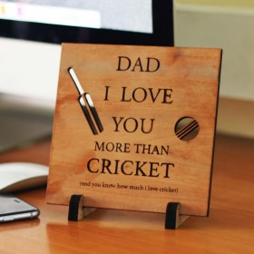 Father's Day Medium Wooden Plaque