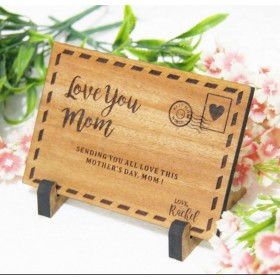 Mother's Day Wooden Postcard