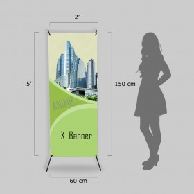 5x2 ft X banner with Stand