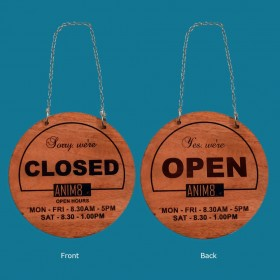 Wooden Open/ Closed Signs
