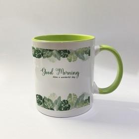 Inner Coloured Green Mug
