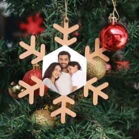 Photo Printed Wooden Snowflake