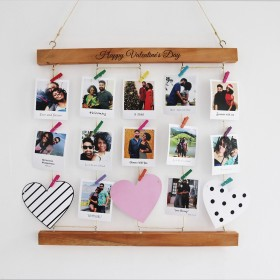 Wooden Picture Clippings Collage Bars