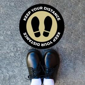 Shoeprint Social Distancing Floor Sticker for School