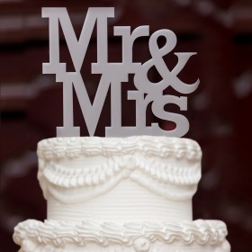 """""""Mr. & Mrs."""" Wedding Cake Topper"""
