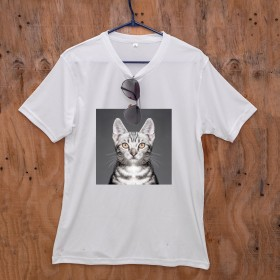 Custom Pet Print White T-Shirt