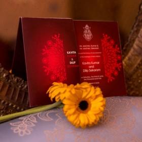 Hindu Sleeved Wedding Card