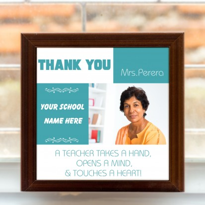 Teacher's Day 8x8 Framed Tile